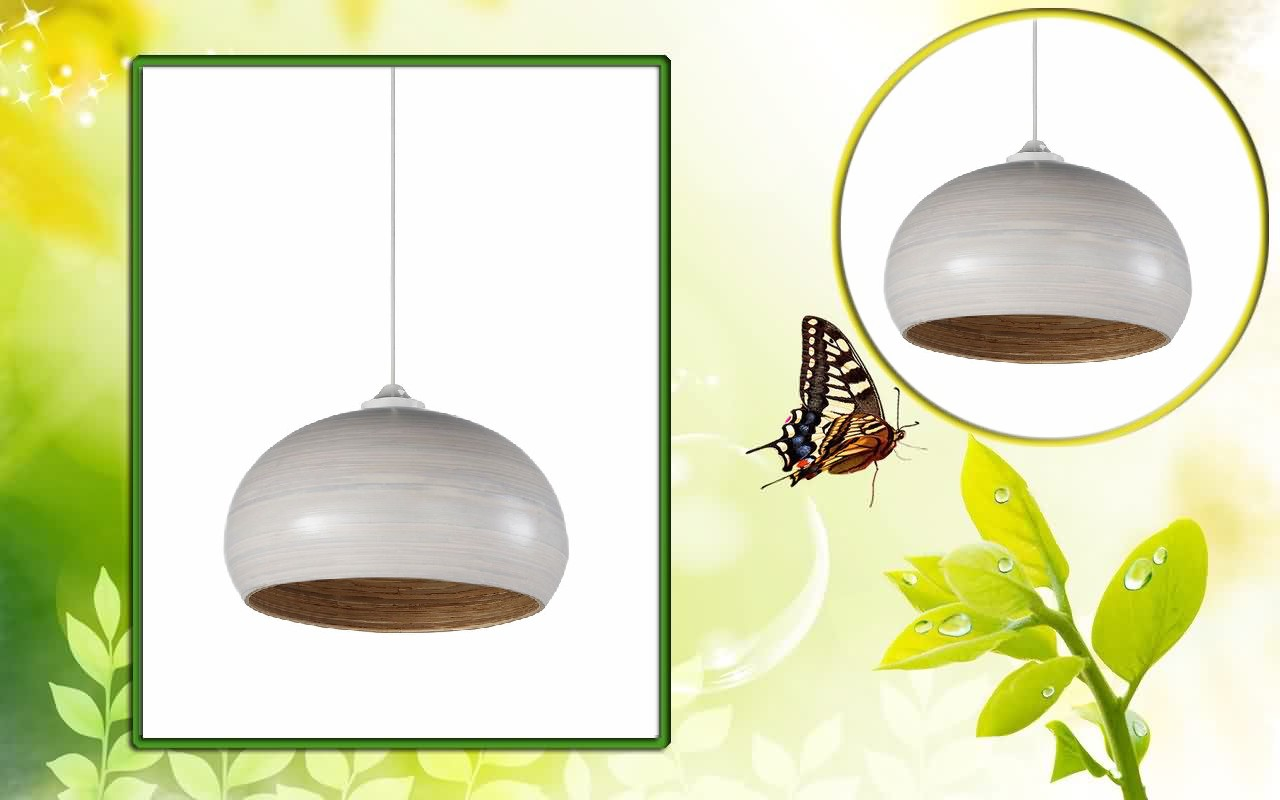 HT2000 coiled bamboo lacquer ceiling pendant