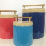 HT0900 ecofriendly lacquer bamboo ice bucket
