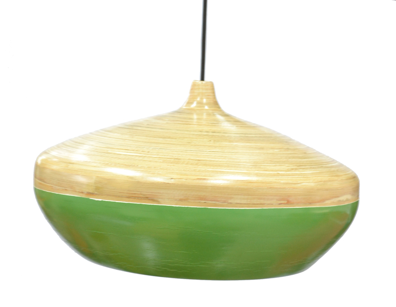 HT2008 Coiled bamboo lampshade