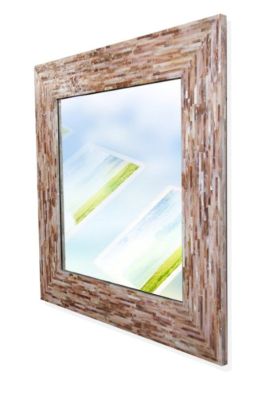 Ht3101 Rectangular Mother Of Pearl Inlay Mirror Frame Ha