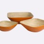 HT7011 Vietnam lacquered bamboo bread basket