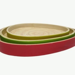HT7023 lacquered bamboo bread tray
