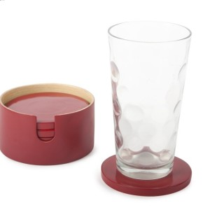 HT7400 Vietnam bamboo coaster cherry color