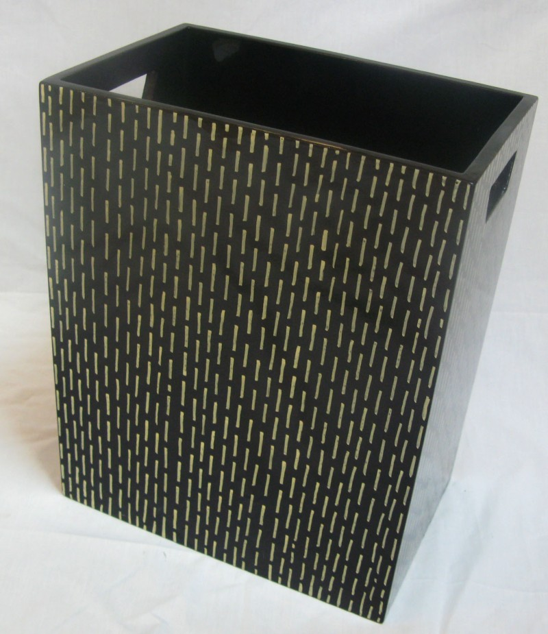 HT9001 Lacquer waste basket
