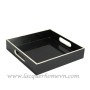 HT6174 black wood lacquer tray