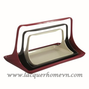 HT7025 lacquer wood fruit tray