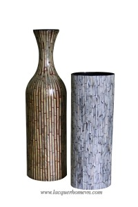 HT6020.2 mother of pearl flower vases