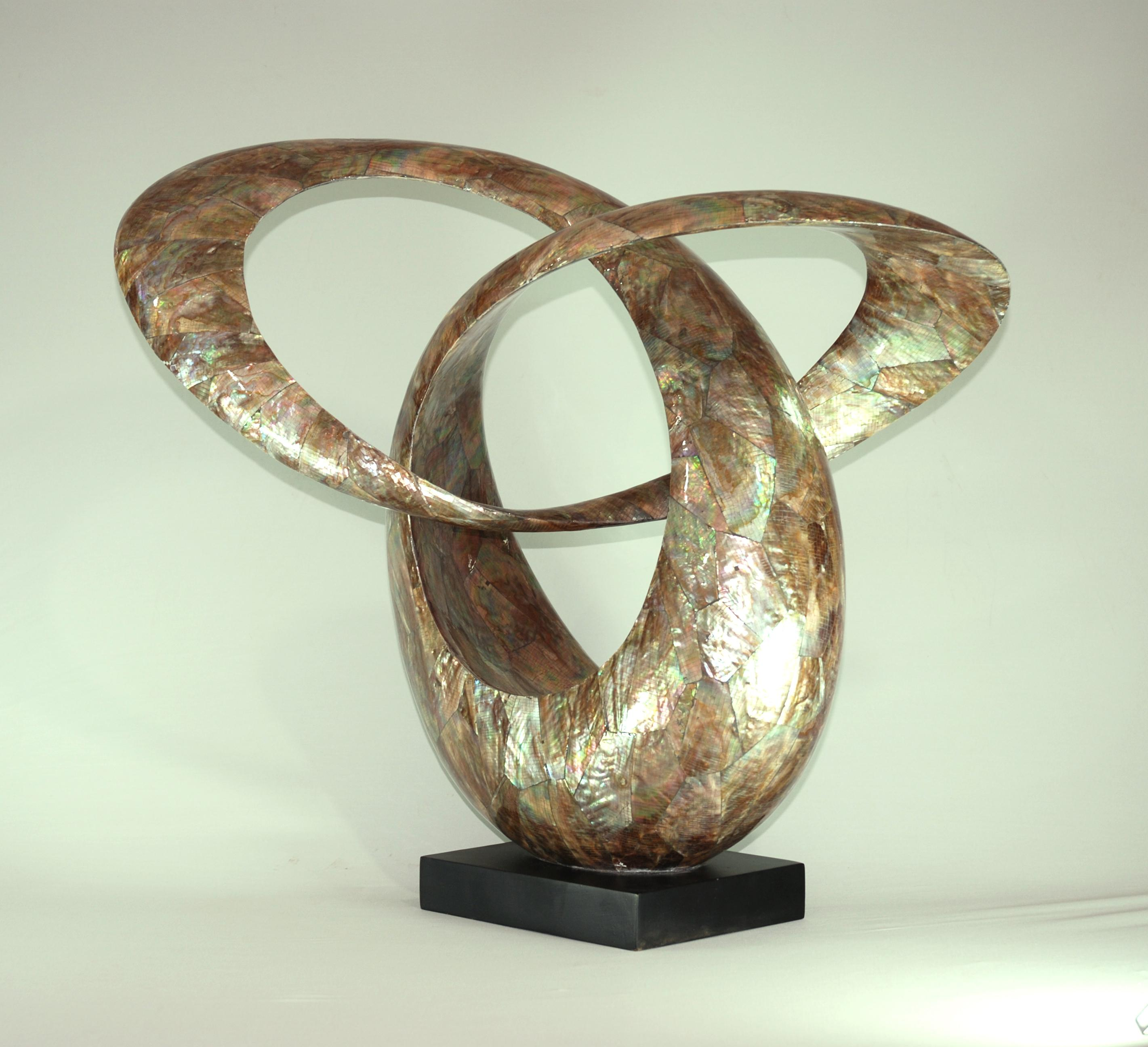Mother Of Pearl Abstract Sculpture Made In Vietnam Ha