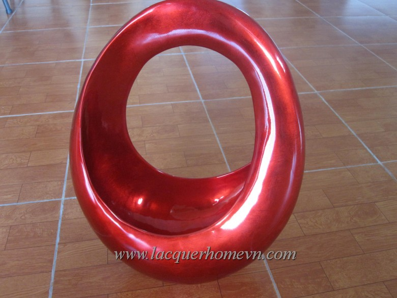 HT3609 Lacquer metallic loop bowl decor Vietnam