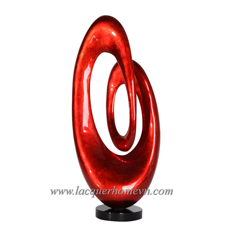 HT3640 Vietnam lacquered polyresin sculpture