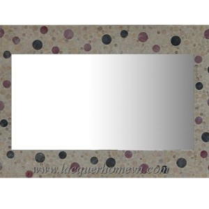 HT3135 Rectangular lacquer mother of pearl mirror