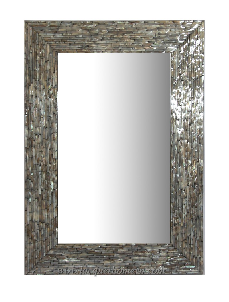 Ht3135 Rectangular Lacquer Mother Of Pearl Mirror Ha