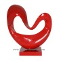 HT3606 Heart shape lacquer sculpture