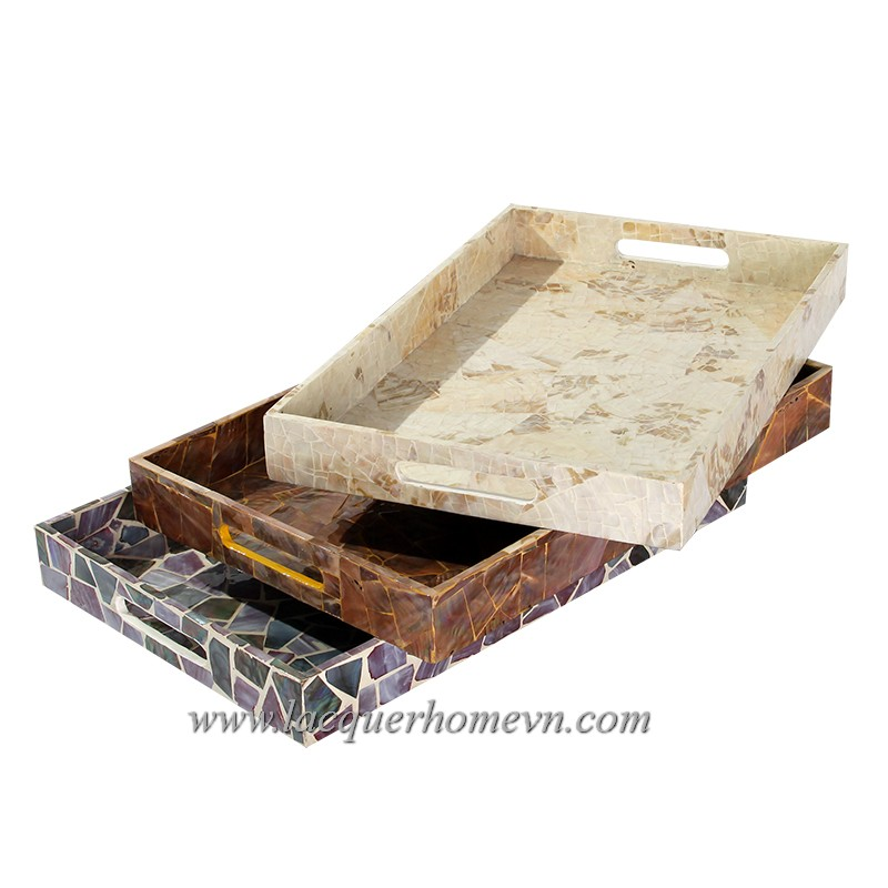 HT6735 mother of pearl serving tray