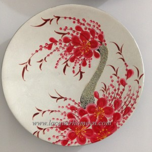HT7447 Vietnam lacquer round plate with handpanting