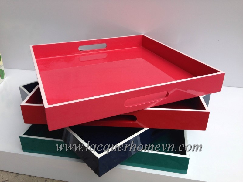 HT6236 Vietnam MDF lacquer serving tray