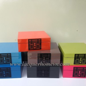 HT9129 double happniess lacquer box