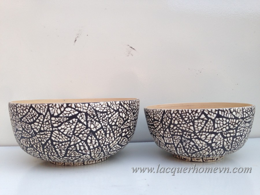 HT5778 Bamboo Eggshell Inlaid Salad Bowl Design Ideas