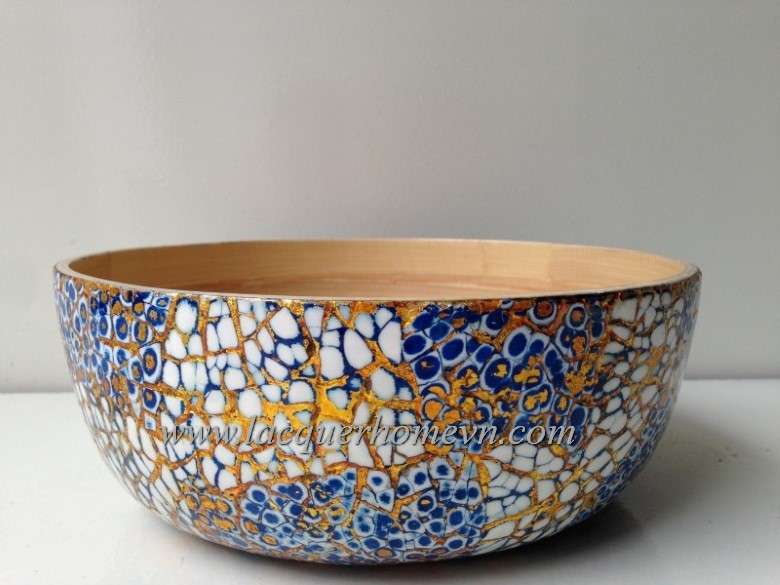 HT5796 Vietnam bamboo lacquer eggshell bowl