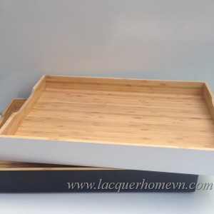 HT6015 Veitnam bamboo lacquer serving tray