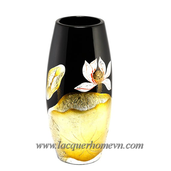 HT6016-ceramic-lacquer-vase-with-lotus-flower-hand-drawing