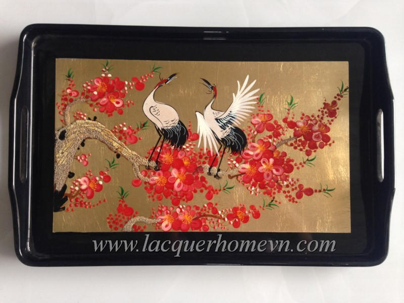 HT6243-vietnam-lacquered-handpainting-tray