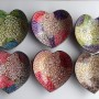 Eggshell metallic lacquered coconut bowls HT5928