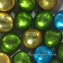 Green metallic lacquer coconut bowls HT5505